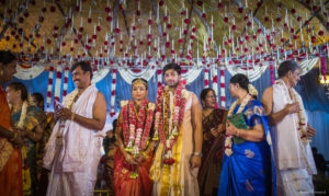 Beautiful candid click of brahmin wedding ceremony